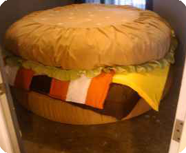 Kevin Sito's cheeseburger bed
