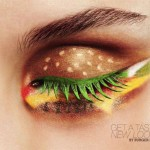 BK ad for hamburger eye shadow