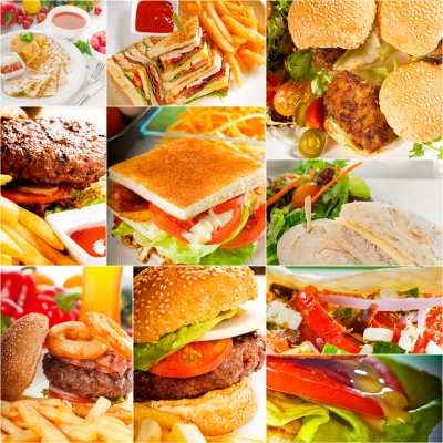 hamburger collage