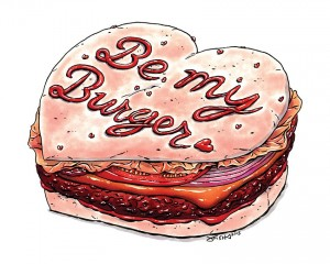 Hamburger Valentine's Day