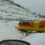 Weinermobile slides into embankment