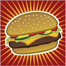 pop art burger