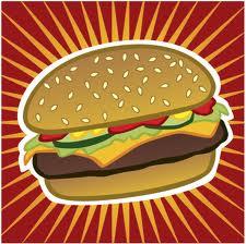 pop art burger