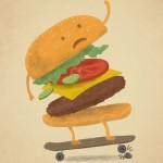 skating burger