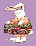 bacon cheeseburger bunny