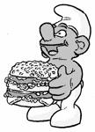 smurf burger