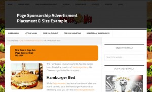 An example placement of your burger magazine ad