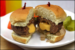 A Juicy Lucy Burger