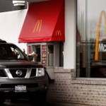 car in McDonald's drive thur